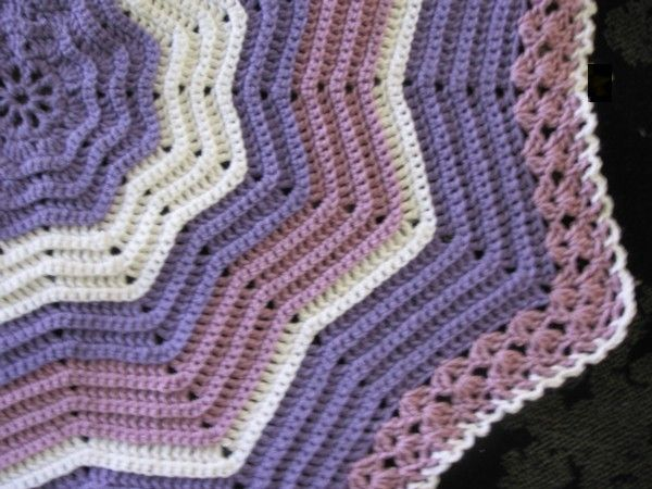 Free Crochet Round Ripple Afghan Pattern Crochet And